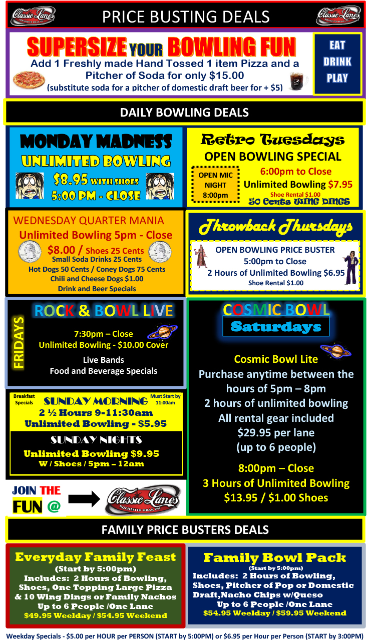 CL SUMMER 2017 bowling specials flyer